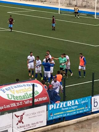 Coppa Italia Eccellenza. Un buon Manfredonia impatta 2a2 a Vieste.