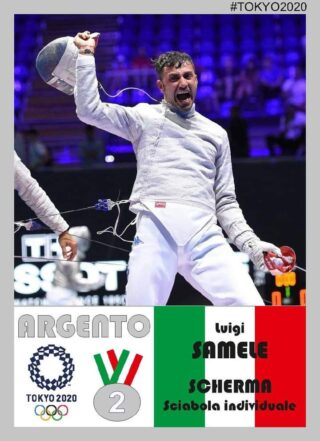 Luigi Samele è medaglia d'argento a Tokyo2020.