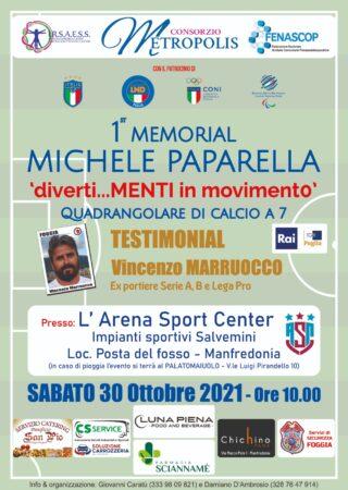 """‼️1° MEMORIAL MICHELE PAPARELLA<br>""""diverti…MENTI in movimento"""" - Quadrangolare di Calcio a 7‼️"""
